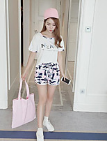 T-shirt Pantalone Completi abbigliamento Da donna Casual Semplice Estate,Con stampe Rotonda Manica corta