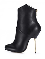 Women's Boots Bootie PU Fall Winter Wedding Party & Evening Dress Black/Red Black 4in-4 3/4in