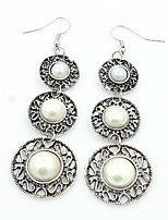 Women's Fashion Dating Three Pearls Pendant Earrings