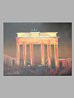 IARTS® Hand Painted Modern Abstract Triumphal Arch in Night Light Oil Painting On Canvas with Stretched Frame Wall Art For Home Decoration
