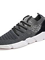 Men's Sneakers Comfort Knit Spring Fall Casual Outdoor Walking Comfort Lace-up Flat Heel Gray Beige Black Flat