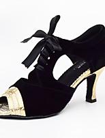 Da donna Balli latino-americani Finta pelle Sandali Sneakers Professionale A stiletto Oro Argento Personalizzabile
