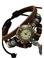Women's Fashion Watch Bracelet Watch Quartz PU Band Brown