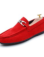 Men's Loafers & Slip-Ons Comfort Spring Fall Leatherette Casual Office & Career Flat Heel Red Gray Black Flat