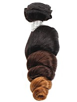 Cappelli veri Brasiliano Ambra Onda morbida Extensions per capelli 1 Nero / Medio Brown / Strawberry Blonde