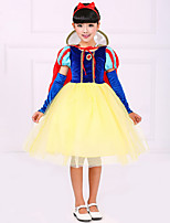 Girl's Snow White'S ClothesA Round Collar Short-Sleeved Gauze Dress