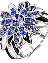 Band Rings Settings Ring Luxury Euramerican Fashion 2Colors Flower Birthday Wedding Movie Gift Jewelry