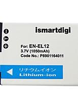 Ismartdigi EL12 3.7V 1050mAh Camera Battery for Nikon EN-EL12 ENEL12 P310 P330 S6200 S6300 S9400 S9500