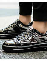 Men's Shoes PU Winter Comfort Sneakers For Casual Black Silver