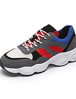Women's Athletic Shoes Comfort Spring Fall Breathable Mesh Walking Shoes Outdoor Office & Career Lace-up Flat Heel Beige Gray 1in-1 3/4in