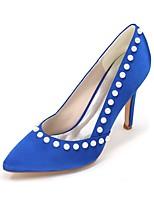 Da donna scarpe da sposa Decolleté Primavera Estate Raso Matrimonio Serata e festa Perle di imitazione A stiletto 7,5 - 9,5 cm