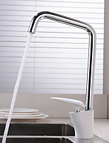 HPB Contemporary Chrome Finish Brass Single Hole Single Handle Kitchen Faucet