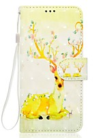 For Samsung Galaxy A5(2017) A3(2017) Phone Case PU Leather Material Sika Deer Pattern 3D Painting Phone Case A510 A310