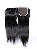 1 peça 8-20 polegadas 100% não processados grau 7a natural recto preto preto brasileiro fechamentos de cabelo livre / meio / 3 partes