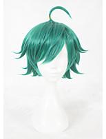 Parrucche sintetiche Senza tappo Pantaloncini Verde Parrucca Faux Locs Parrucca Cosplay costumi parrucche