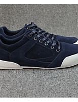 Men's Sneakers Comfort Spring Fall Suede Casual Almond Green Navy Blue Black Flat