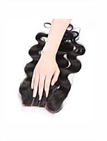 La chiusura frontale del merletto riccia di 4x4inch chiusura remy dei capelli umani 8-20inch del bambino dei capelli umani di modo 3 parti