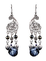 Women's Drop Earrings Jewelry Flower Style Dangling Style Pendant Tassel Flowers Floral Fashion Classic Chrome Flower Jewelry For Wedding