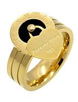 Per donna Fedine Cuore Di tendenza Personalizzato Elegant Acciaio al titanio A forma di cuore Gioielli PerMatrimonio Fidanzamento