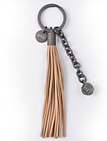 Nøgleringsvedhæng til taske / telefon Frynsetip Fårlæder