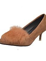 Для женщин Обувь на каблуках Удобная обувь Осень Зима Полиуретан Повседневные Для праздника На шпильке Черный Серый Красный Хаки 4,5 - 7