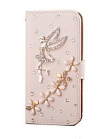 Pour Samsung Galaxy Coque Porte Carte Strass Clapet Coque Coque Intégrale Coque Dessin Animé Cuir PU pour SamsungS7 edge S7 S6 edge plus