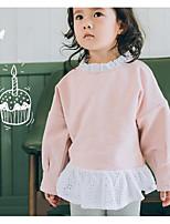 Mädchen Hemd einfarbig Baumwolle Herbst Lange Ärmel