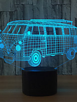 3D Camping Bus Led Colorful Acrylic Lamp As Home Decorations Lights