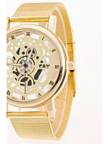 Men's Wrist watch Chinese Quartz Stainless Steel Band Silver Gold