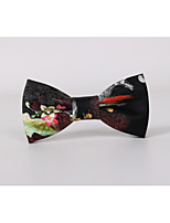 Men's PU / Leather Bow Tie,Fashion Wedding Print All Seasons