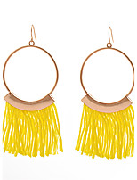 Women's Tassel Fashion Personalized Handmade Metallic Alloy Circle Jewelry For Daily Street Going out Club
