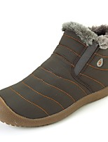 Women's Boots Snow Boots Bootie Light Soles Fabric Winter Casual Outdoor Office & Career Flat Heel Blue Gray Flat