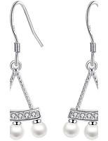 Femme Boucles d'oreille goutte Boucles d'oreilles Perle imitée Amitié Mode Adorable Bijoux de Luxe Elegant Imitation de perle Alliage