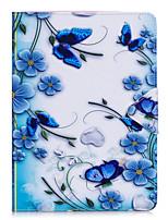 Capa de capa para ipad 10.5 ipad 2017 flip caso de corpo inteiro borboleta flor dura couro para pro 9.7 '' air 2 air 2.3.4 mini4 mini