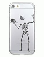 Pour iphone 7plus housse couverture transparent motif couverture arrière halloween squelette doux tpu pour iphone 7 6splus 6plus 6s 6 5 5s
