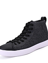 Men's Shoes Canvas Spring Comfort Sneakers For Casual Black Gray Red