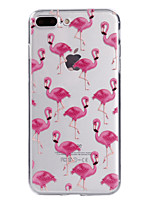 For iPhone X iPhone 8 Case Cover Transparent Pattern Back Cover Case Flamingo Soft TPU for Apple iPhone X iPhone 8 Plus iPhone 8 iPhone 7