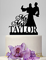 Personalized Acrylic Mr & Mrs Funny Wedding Cake Topper