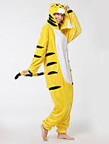 Kigurumi Pajamas Tiger Leotard/Onesie Shoes Festival/Holiday Animal Sleepwear Halloween Fashion Embroidered Flannel Fabric Cosplay