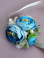 Wedding Flowers Grace Roses Wrist Corsages Wedding / Special Occasion Satin / Bead / Fabric The Bride's Wrist Flower