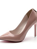 Women's Heels Comfort Summer PU Dress Stiletto Heel Black Beige Ruby Blushing Pink 2in-2 3/4in