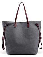 Women Bags All Seasons Canvas Shoulder Bag for Casual Blue Gray Purple Coffee