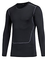 Men's Baselayer Long Sleeves Breathability Lightweight Stretchy T-shirt Sweatshirt Top for Running/Jogging Cycling Exercise & Fitness