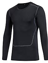 Per uomo Sottomaglia Manica lunga Traspirabilità Leggero Elastico T-shirt Felpa Top per Corsa Ciclismo Esercizi di fitness Attività