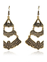 Women's Drop Earrings AAA Cubic Zirconia Floral Gray Pearl Geometric Irregular Jewelry For Party Gift Evening Party Stage