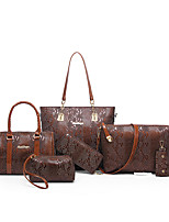 Women Bags All Seasons PU Bag Set Zipper for Casual Office & Career Blue Black Red Fuchsia Brown