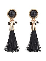 Women's Drop Earrings Crystal Tassel Fashion Bohemian Elegant Crystal Alloy Round Jewelry For Daily Casual Evening Party Formal Street