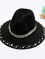 Women's Fashion British Nail Bead Beach Sun Hat & Hats