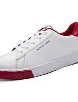 Da uomo Sneakers Comoda Primavera Autunno PU (Poliuretano) Casual Lacci Piatto Nero e Oro Bianco/nero Rosso/Bianco Bianco e verde Piatto