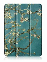 Padrão de pintura caixa de couro trifásica com suporte para lenovo tab 4 10 mais (tb-x704fn) tablet de 10,1 polegadas
